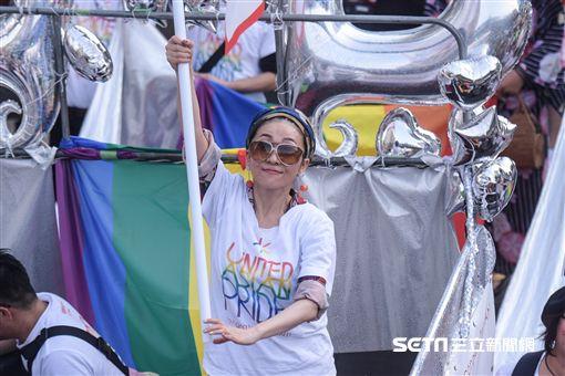 同志大遊行,日本歌手米希亞 (圖/記者林敬旻攝影)