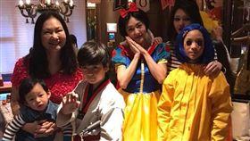 小S和親友萬聖節變裝,扮白雪公主熱舞,大S的兒子也曝光。