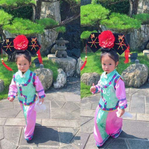 關穎女兒萬聖節變裝,美人魚、格格、日本藝妓、內衣超模天使。(翻攝自關穎ig)