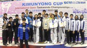▲中華跆拳道代表隊今日於韓國金雲龍盃公開賽摘3金2銀。(圖/劉威廷提供)