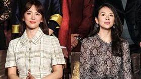 ▲宋慧喬和章子怡共同演出多項作品。(圖/翻攝自微博)