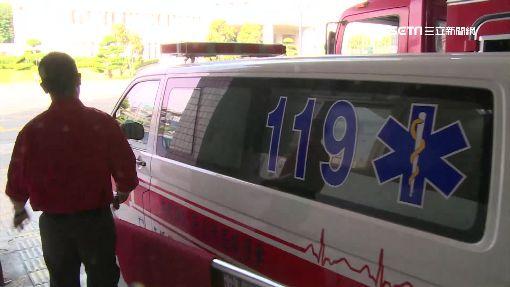 鳴笛聲嚇到我小孩! 男丟石頭砸罵救護車