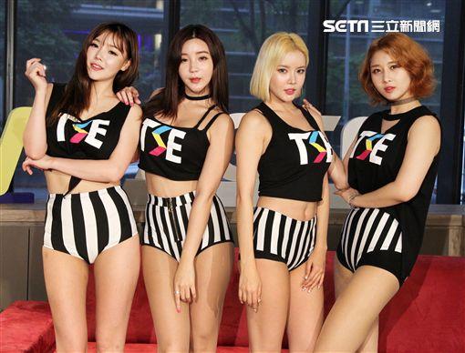 以《Chocolate Cream》舞蹈打出知名度的韓團LAYSHA接受三立新聞網獨家專訪。(圖/邱榮吉攝影)