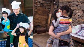 一家四口合體!《爸爸5》吳尊老婆首露面 大秀驚人廚藝 圖/翻攝自新浪娛樂、微博