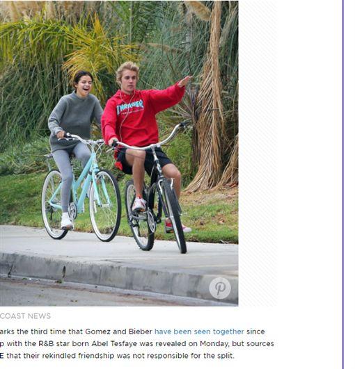 賽琳娜(Selena Gomez)小賈斯汀http://people.com/music/selena-gomez-justin-bieber-reconciliation-bike-ride-weeknd-breakup/