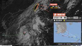 類共伴降雨,氣象局表示,颱風,丹瑞,台灣颱風論壇,丹瑞颱風,降雨