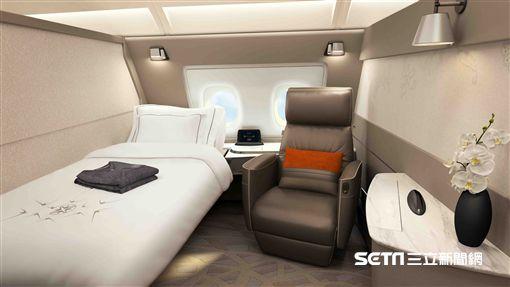 新加坡航空,新航全新客艙,A380客機。(圖/新航提供)