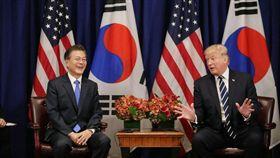 南韓總統、南韓文在寅、川普/대한민국 청와대臉書