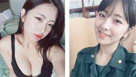 這名南韓正妹現年25歲,名叫趙韓星(조한별),目前則在首都醫院體檢部工作,2年前因被選為軍隊宣傳公關,開始當模特兒拍攝月曆和海報而迅速爆紅(圖/翻攝自《jo.1star》IG)