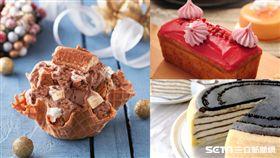 Lady M 鐵觀音千層蛋糕,玫瑰磅蛋糕,香蕉冰淇淋。(圖/業者提供)