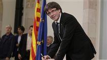 加泰隆尼亞,普伊格蒙特,Carles Puigdemont(圖/美聯社/達志影像)