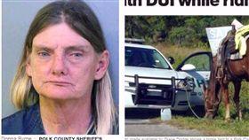 佛州,酒駕,喝醉,喝酒,騎馬,Donna Byrne,婦人,路人,高速公路,虐待 圖/翻攝自cbsNEWS https://goo.gl/HiWC65