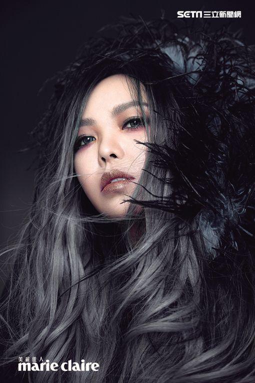 ▲張惠妹接受雜誌專訪。(圖/Marie Claire美麗佳人提供)