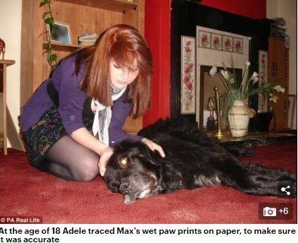 英國萊斯特有一名18歲女子史密斯(Adele Smith)為了紀念愛犬,在自己的胸部刺上狗狗腳印,不料男人看到都不喜歡,讓史密斯後悔直呼,「交不到男朋友!」(圖/翻攝自每日郵報)