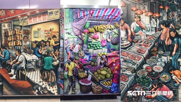 香港10大IG打卡景點:西營盤站浮雕壁畫。(圖/港旅局提供)