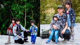 爸爸去哪兒,吳尊,林麗瑩,Max,Neinei(圖/翻攝自微博)