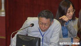 台北市長柯文哲6日前往市議會接受總質詢。 圖/記者林敬旻攝