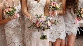 結婚、婚禮、伴娘/達志影像/美聯社