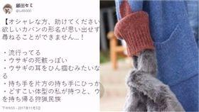 包包,兔子,形容,屍體,耳朵,手提袋,搜尋,名子,時尚,日本 圖/翻攝自推特 https://goo.gl/gnTBtX