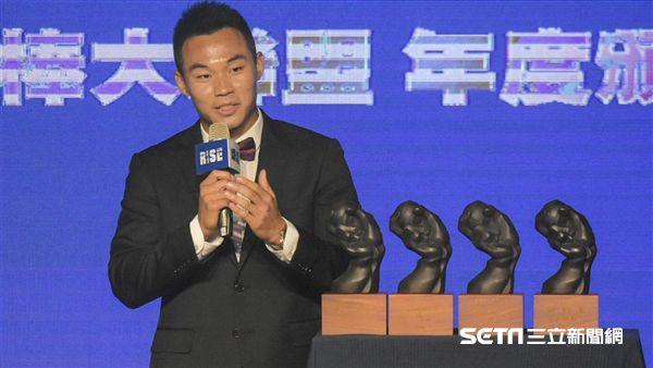 中華職棒年度頒獎典禮王柏融 圖/記者林敬旻攝