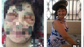 太可怕了!俄羅斯一名41歲的護士伊莉娜(Irina Gonchar)在網路上認識了一名45歲的男子艾納托立(Anatoliy Ezhkov),2人相約至艾納托立家用餐,不料艾納托立酒後竟變食人魔,將伊莉娜打暈後開始啃食她的肉體,伊莉娜被凌遲了約4小時才被附近鄰居救走,警方也立刻逮到這名「食人魔」,問訊後已將他保釋。(圖/翻攝自每日郵報)