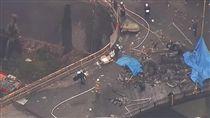 日本東京發生直升機墜機意外/ANNnewsCH YouTube