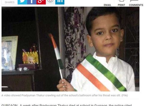 想讓考試延期…印度少年竟隨機殺人 7歲男童陳屍廁所圖翻攝自NDTVhttps://www.ndtv.com/gurgaon-news/ryan-international-school-murder-case-in-pradyuman-thakur-murder-in-gurgaon-crucial-cctv-was-ignored-1772801