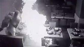 誤用/彰化火鍋店瓦斯氣爆!男員工被燒成火球 驚悚畫面曝光