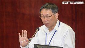 台北市長柯文哲赴台北市議會備詢。 圖/記者林敬旻攝