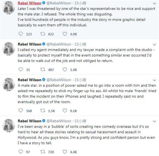 胖艾美自爆曾兩度被性騷擾。(圖/翻攝自推特)