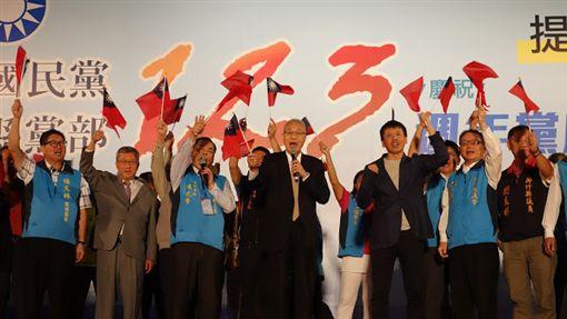 國民黨主席吳敦義「中國國民黨建黨123周年黨慶暨重建社會公益、提振價值初衷–黨員回娘家」活動。(國民黨提供)