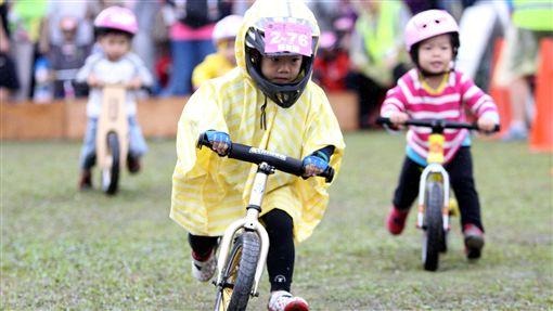 陳昱融(前)奪下滑步車兩歲組冠軍(圖/中華民國自行車騎士協會提供)