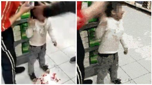 中國大陸,湖南,女童,爺爺,超市,掌摑(圖/翻攝自微博)