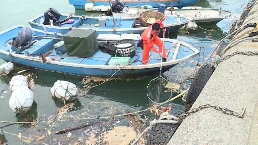 海巡兵護港做環保 一周撈300斤海洋垃圾