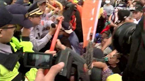 退伍軍抗議1200,反年改團體,八百壯士,抗議 ID-1134369