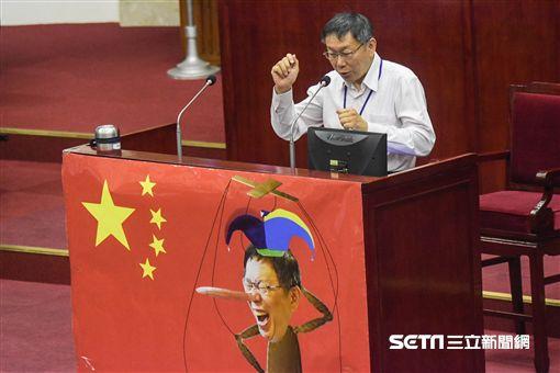 台北市長柯文哲13日赴市議會接受總質詢 圖/記者林敬旻攝