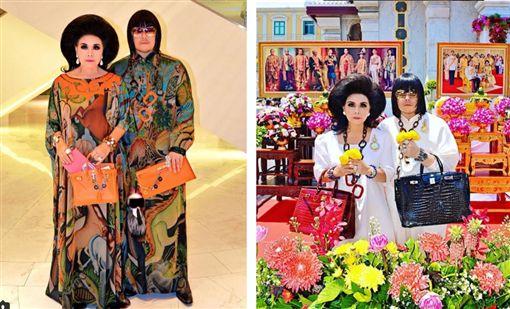 泰國的一對土豪母子檔Peepy和媽媽Mother Lee,特色就是母子出門裝伴一定是互相搭配。(圖/翻攝自《peepy_and_mother_lee》IG)