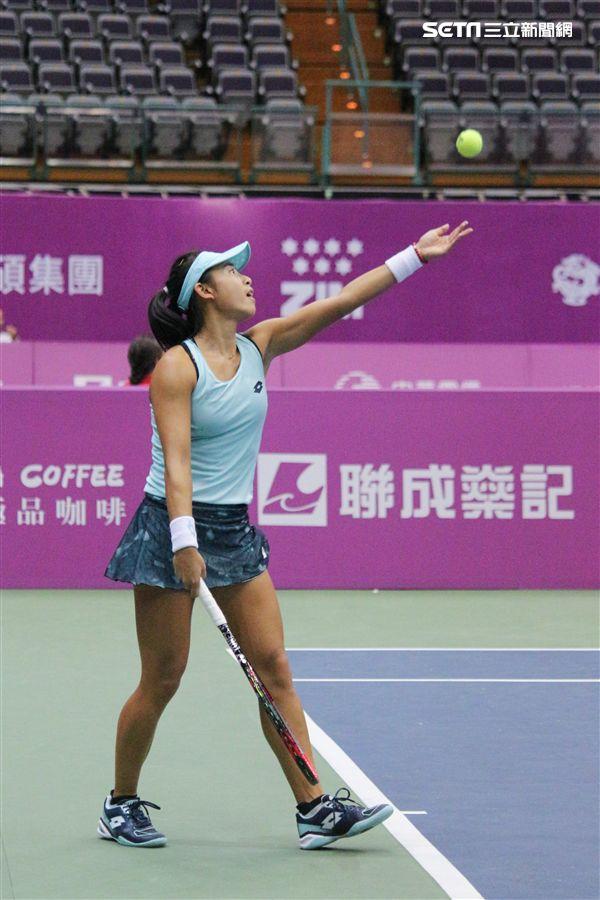 ▲加拿大籍華裔網球選手趙一羽。(圖/記者蔡宜瑾攝影)