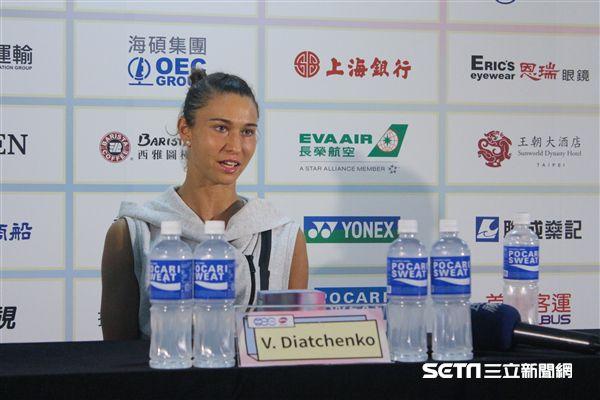 ▲俄羅斯網球女將迪雅琴科。(圖/記者蔡宜瑾攝影)