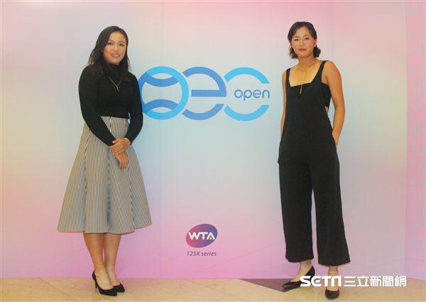 ▲我國網球好手李亞軒(左)和徐竫雯(右)一同出席選手之夜。(圖/記者蔡宜瑾攝影)
