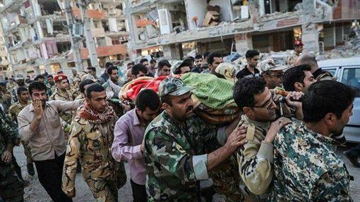 伊拉克,伊朗,兩伊邊境,地震,強震(圖/翻攝自推特)