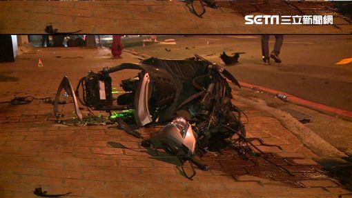 台中賓士撞死騎士