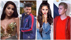 賽琳娜,Selena Gomez,小賈斯汀,Justin Bieber,賈賽戀,復合,威肯,約會,The Weeknd,Yovanna Ventura,四角戀 (圖/翻攝自推特)