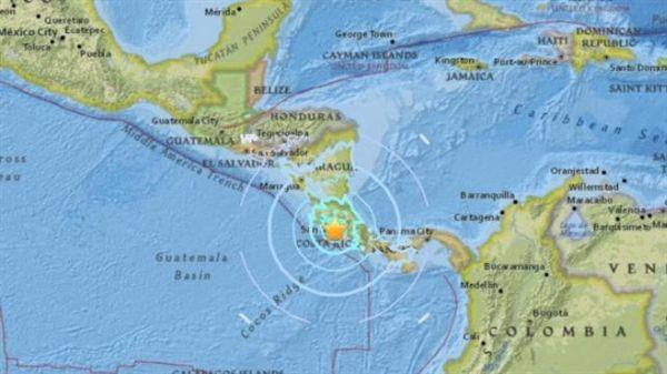 2017/11/12哥斯大黎加地震(圖擷自USGS網站)