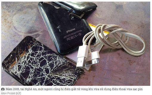 越南一名少女在睡覺時替手機充電,卻因充電線漏電導致觸電致死。(圖/翻攝青年報)