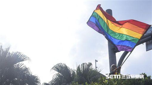 同志大遊行,彩虹旗,同性戀,性別平權(圖/記者林敬旻攝影)