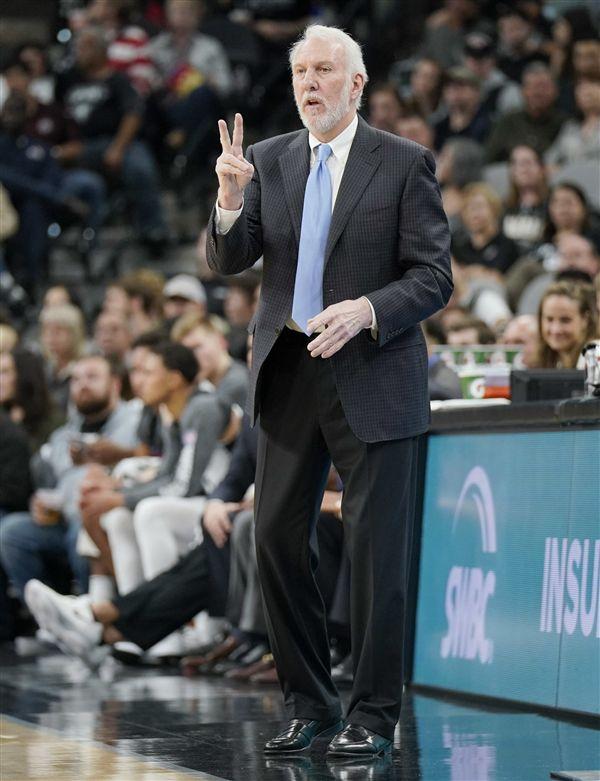 ▲波帕維奇創下NBA最快客場500勝的紀錄。(圖/美聯社/達志影像)