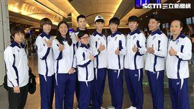 ▲中華跆拳道代表隊今日出發前往中國西安公開賽。(圖/王俊傑提供)