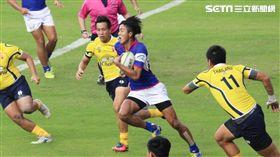 ▲中華隊於2017年亞洲盃橄欖球錦標賽第二級盃賽中不敵泰國。(圖/記者蔡宜瑾攝影)