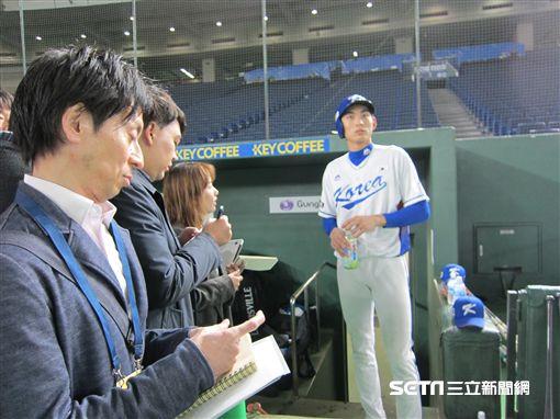 ▲U24亞冠賽韓國隊外野手李政厚。(圖/記者蕭保祥攝)